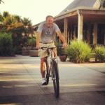 7 footer Jim Grandholm test riding the Titanium DirtySixer.