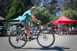 "6'10"" Alex at the MacLaren Park MTB Race in San Francisco."