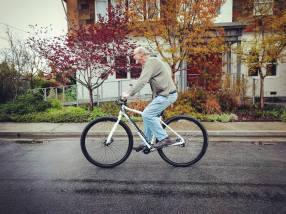 "Steve, 6'11"" test riding the 36er DirtySixer prototype."